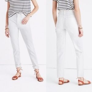 Madewell White Perfect Summer Jean